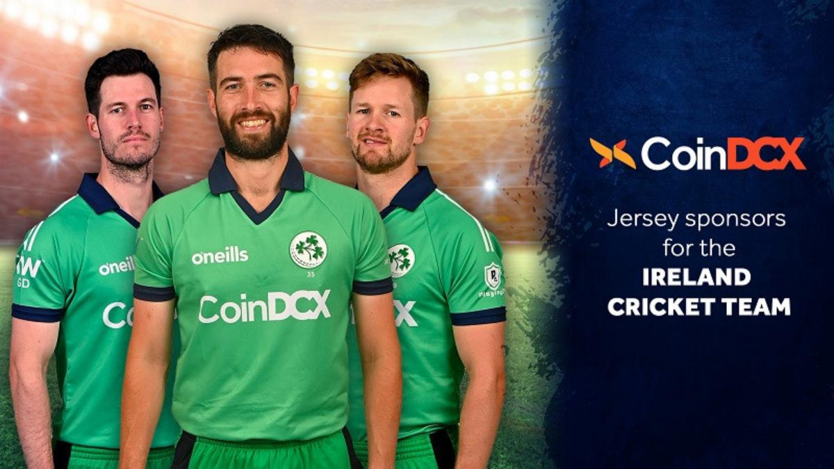 CoinDCX becomes official jersey sponsor for Ireland Cricket Team