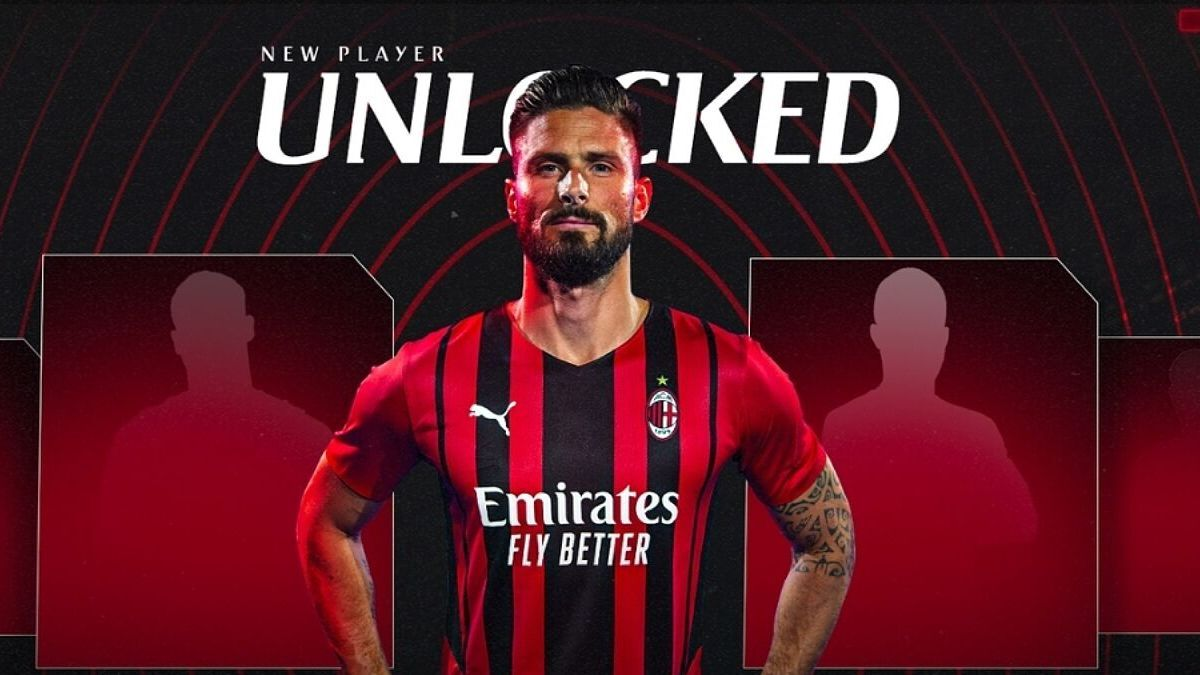 Olivier Giroud signs for AC Milan on a two-year deal