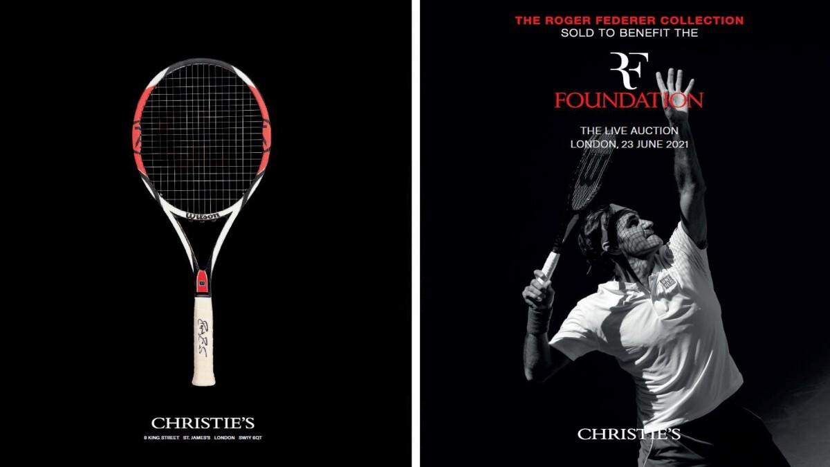 Roger Federer's memorabilia fetches over $4.7 million at auction