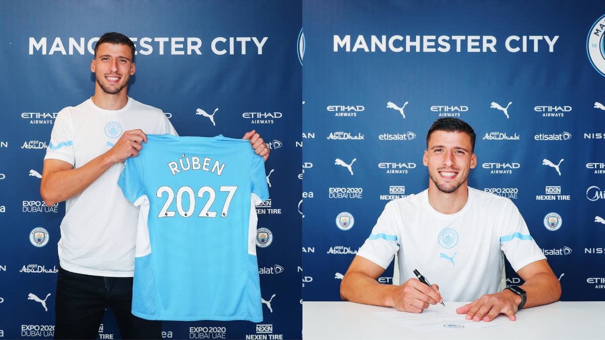 Ruben Dias signs a new contract with Manchester City