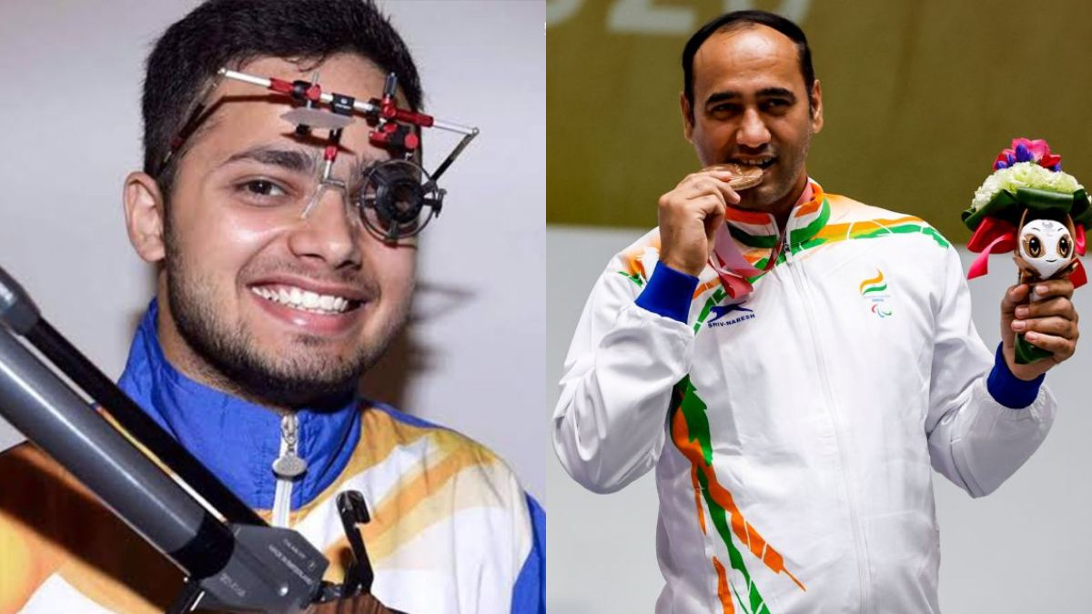 Shooters Manish Narwal, Singhraj Adhana bag gold and silver medals respectively in the P4 Mixed 50m Pistol SH1 event