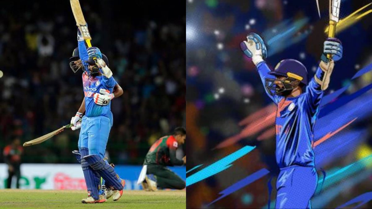 Dinesh Karthik's iconic last-ball six against Bangladesh to be India's first sports NFT